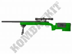 DE M62 BB Gun M40 Replica Spring Airsoft Sniper Rifle Black & 2 Tone + Scope + Bipod
